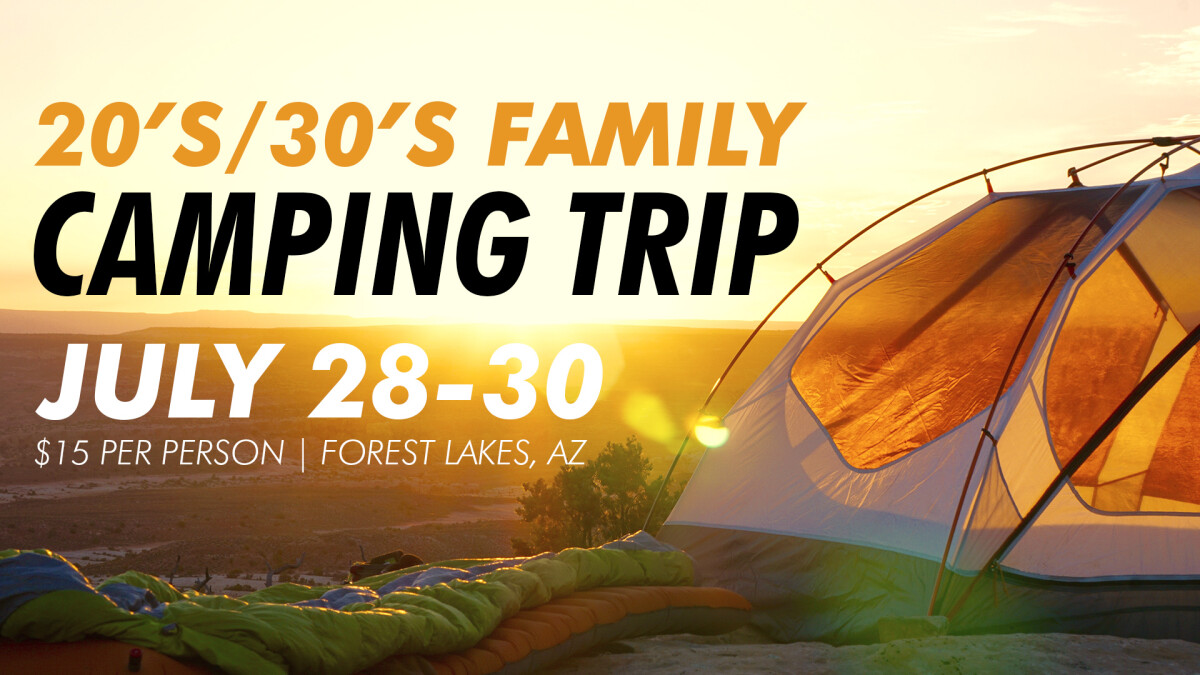 20's-30's Family Camping Trip