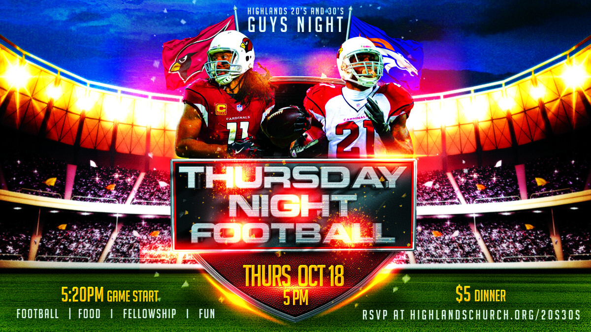 20's & 30's Guys Football Night